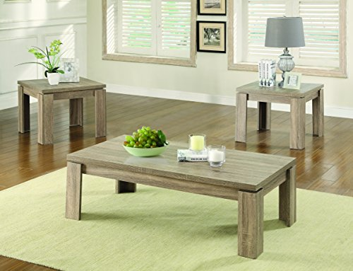 Rustic Occasional Tables (Coaster 701646 Home Furnishings 3 Piece Occasional Set, Weathered Brown)