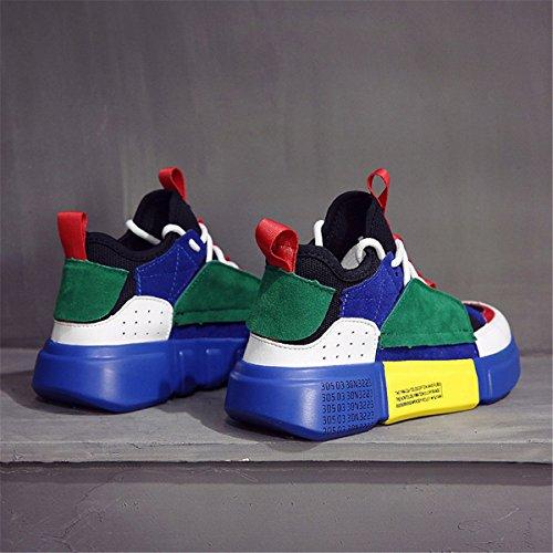 Women's Women Sports Fashionable Shoes Casual Girl Running Outdoor Sneaker Lightweight Walking Style Shoes Blue LSGEGO dxqTX0d