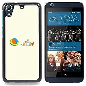 """Qstar Arte & diseño plástico duro Fundas Cover Cubre Hard Case Cover para HTC Desire 626 (Castillo de arena"""")"""