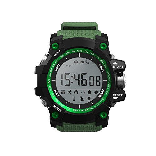Bestera Smart Watches Mens Sports Bluetooth Watch Pedometer Wearable 30 Meter Diving Waterproof Remote Camera Running Equipment for Android and iOS Black (Green)