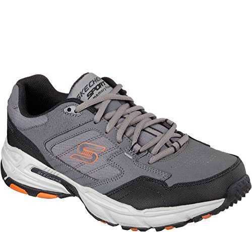 Skechers Heren Uithoudingsvermogen Plus Houtskool Oranje Atletische Training Sneakers Houtskool