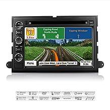 "AIMTOM AMN-7001-MB Ford Expedition Explorer Mustang Sport Trac F-150 F-250 F-350 In-dash GPS Navigation Radio Bluetooth DVD Stereo 7"" Touchscreen AV Receiver USB SD Player Copyrighted iGo Primo Maps"