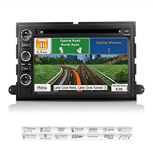 AIMTOM AMN-7001-MB Ford Expedition Explorer Mustang Sport Trac F-150 F-250 F-350 In-dash GPS Navigation Radio Bluetooth DVD Stereo 7