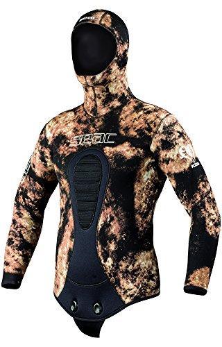 SEAC Men's Kobra 7 mm Neoprene Wetsuit Jacket, Medium, Camo