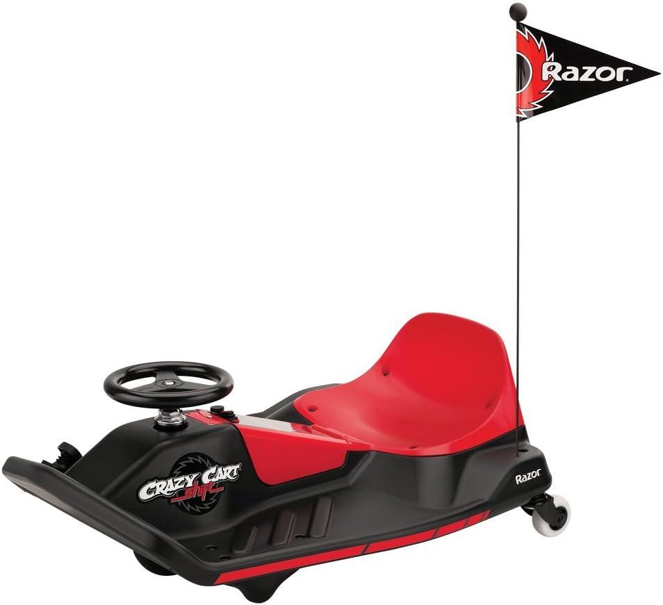 Razor- Crazy Cart Shift Vehículo eléctrico, Color Negro Rojo, única (25173802)