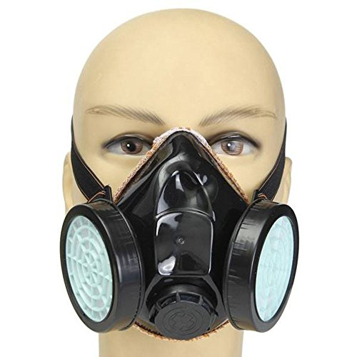 Anti-Dust Gas Spray Paint Dual Respirator Industrial Chemical Mask
