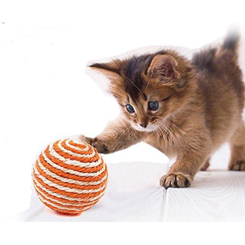 2 Stück - In Sisal-Ball für Katzen