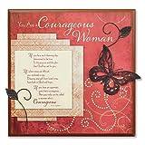 "Abbey Press ""Courageous Woman"" Plaque - Inspirational Cancer Survior 55774T"