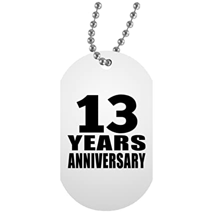 Amazon Anniversary Dog Tag 13 Years Anniversary Military