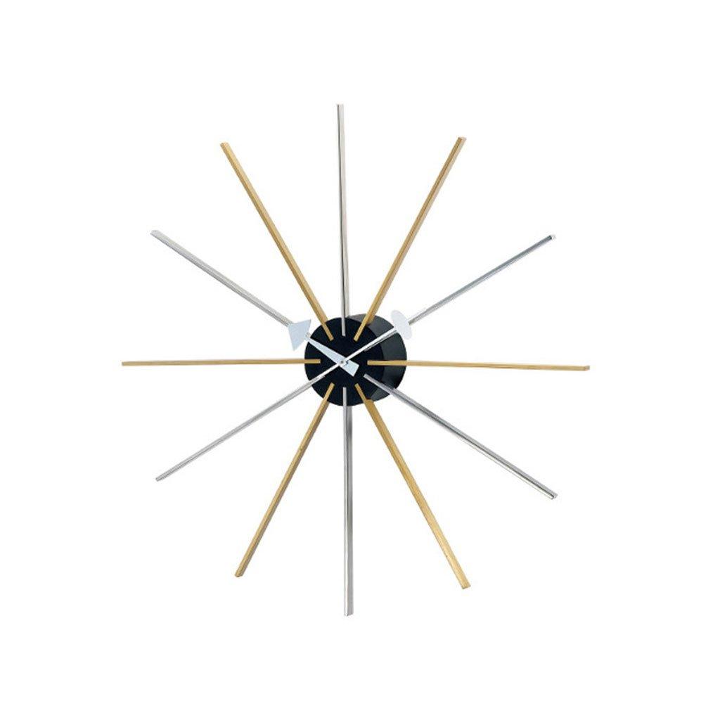 機械的なヨーロッパのクリエイティブウォールクロックファッションクロックリビングルームの装飾モダンなリビングルーム創造的な金属の壁時計 B07CSNJYDX