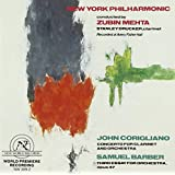 Barber: Third Essay for Orchestra / Corigliano: Concerto for Clarinet