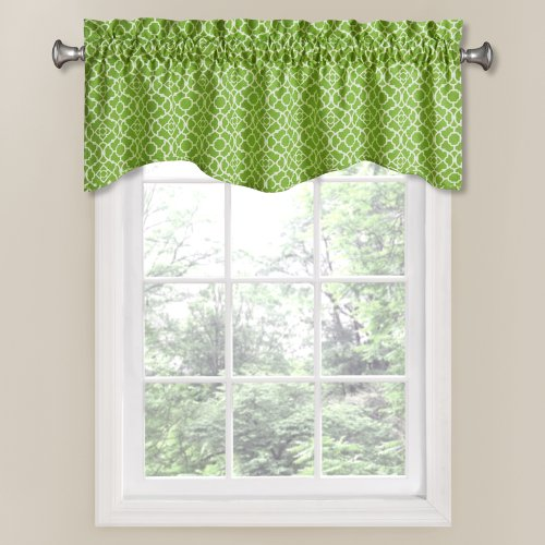 Waverly 12459050X016CTR Lovely Lattice 50-Inch by 16-Inch Window Valance, (Green Trellis)
