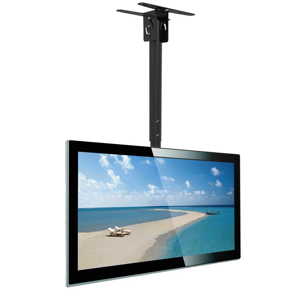 Everstone Adjustable TV Ceiling Mount for 32 to 55'' TV Swivel and Tilting Full Motion Bracket Fit Most Plasma LED LCD Flat Screen and Curved TVs,Up to VESA 400x400 and 33 LBS,HDMI Cable and Level