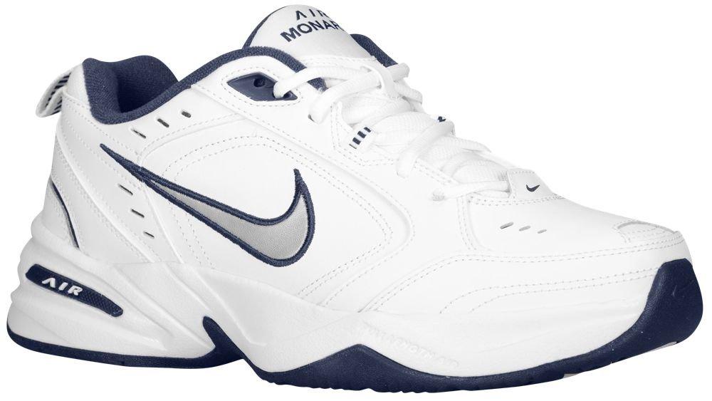[ナイキ] Nike Air Monarch IV - メンズ トレーニング [並行輸入品] B072C5R8CZ US09.0 White/Midnight Navy/Metallic Silver