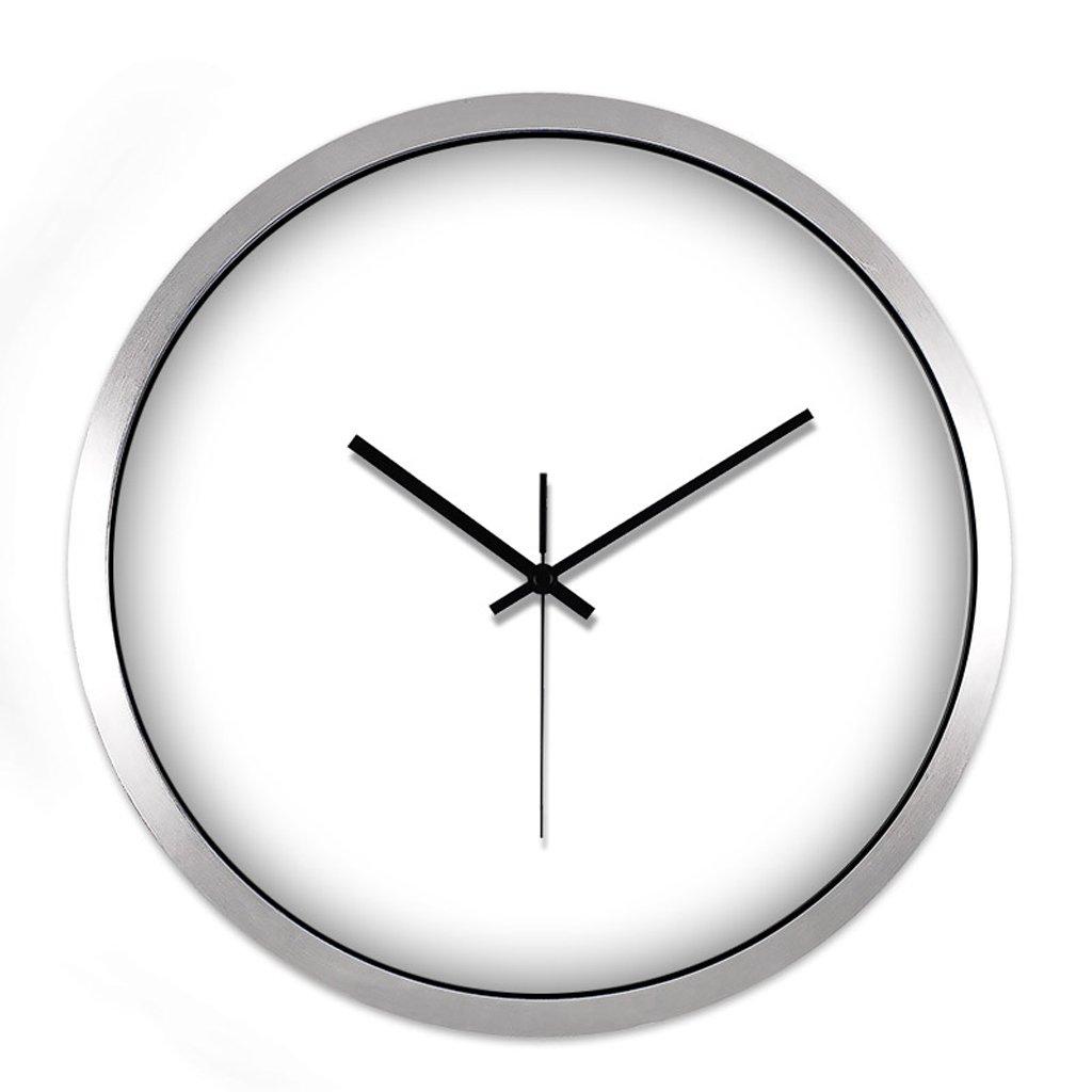 LINGZHIGAN ミュートシンプルクラシックウォールクリエイティブクリエイティブリビングルームベッドルームホーム電子モダンクォーツ時計 ( 色 : シルバー しるば゜ , サイズ さいず : 14 inches ) B07BTW8HFT 14 inches|シルバー しるば゜ シルバー しるば゜ 14 inches