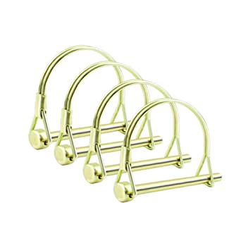 1//4 Inch Heavy Duty Safety Coupler Pin Shaft Locking Pto Hitch Pin with Round Arch Wire Retainer for Farm Trailers Lawn Garden INCREWAY 4pcs Wire Lock Pin
