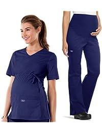 Core Stretch Women's Maternity Scrub Top & Scrub Pant Set