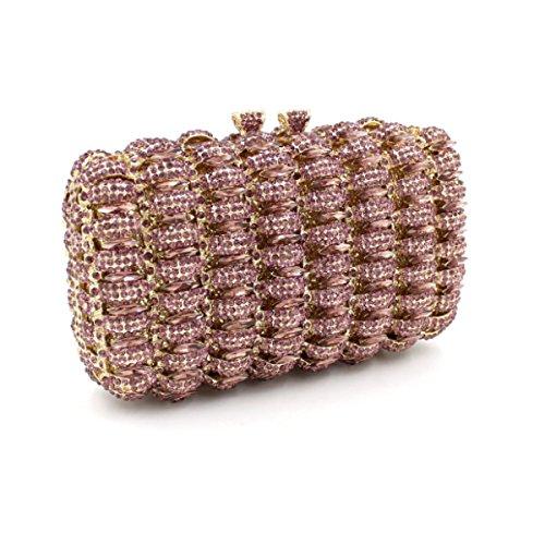 Bolsa Del Bolso Del Partido Bolso De Noche De Lujo Del Diamante De Las Mujeres Pink