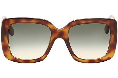b52a46c641fd7 Amazon.com  Gucci GG0141S 002 Havana Square Sunglasses  Clothing
