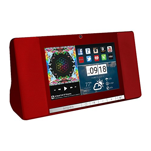 Azpen A760 7'' Audio Quad Core Android Tablet with Bluetooth Speaker (Red) by Azpen