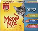 Meow Mix Poultry and Seafood Variety Pack, 12-Count, My Pet Supplies