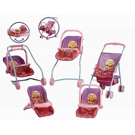 Amazon.es: Disney 31112 - muñeco - Cochecito convertible 7 en 1 - Winnie The Pooh x1: Juguetes y juegos