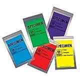 Action Health CCST69PL Econo-Zip Color Specimen Bag, 6W x 9H, 2 mil, Zip Closure with Tear Line, Purple