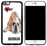 english bulldog iphone 6 case - Rikki Knight I Love My English Bulldog Lying Design iPhone 6/6s Plus Hybrid Case Cover, Black