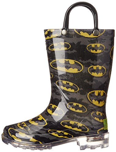 Western Chief Kids Waterproof D.C. Comics Character Rain Boots with Easy on Handles, Light-up Batman, 12 M US Little Kid by Western Chief (Image #5)
