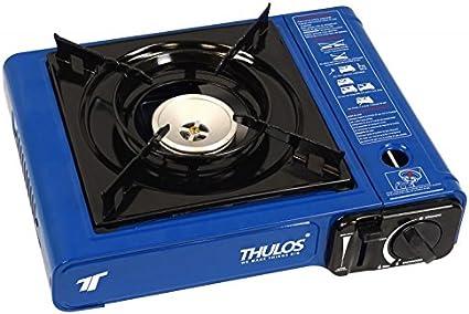 Cocina portátil a gas (botella B-250), 2.2KW. (AZUL)THULOS TH-GS008 Ideal para actividades al exterior: Camping, picnics, barbacoas..