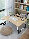 Bed Laptop Table Tray LapDesk eNotebook Stand with ipad Holder Cup Slot Adjustable Anti Slip Legs Foldable for Indoor…