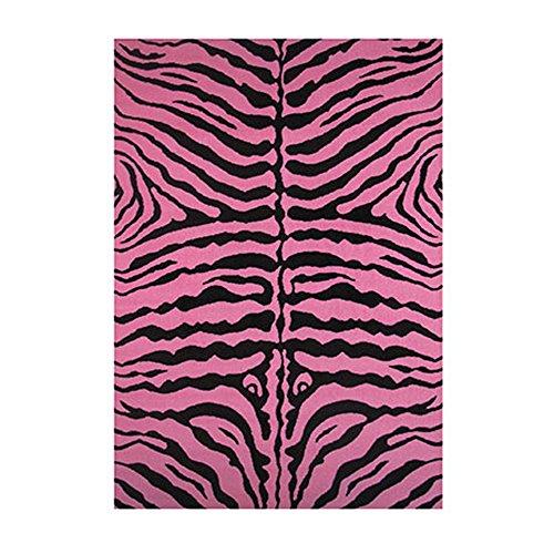 Fun Time-NEW Kids Home Decorative Area Rug Nylon Zebra Skin-Pink -19