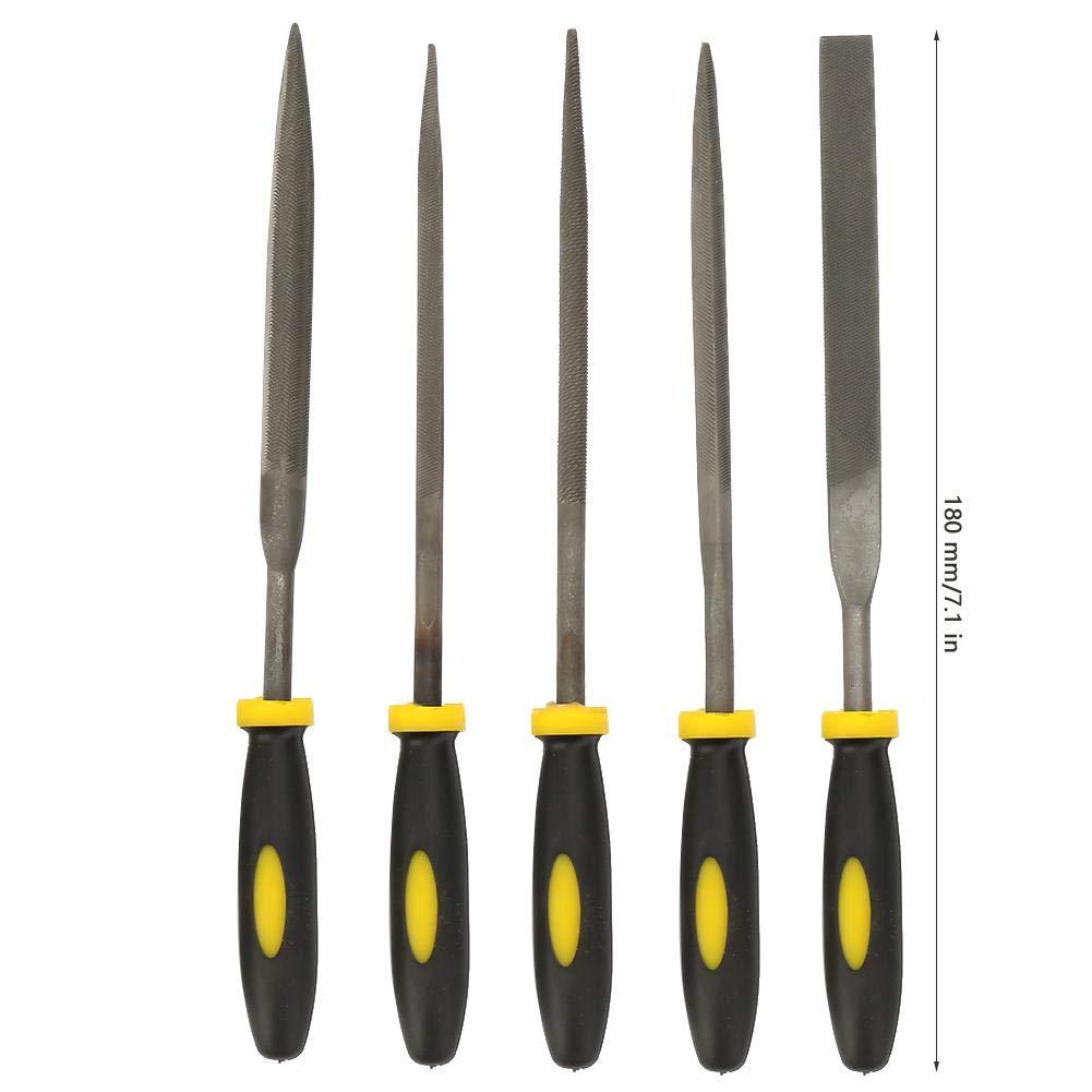 Zerone Praktische Stahl-Raspel-Holz-Feilen-Set Praktische Mini sortierte Flache Feile 3 * 140 mm