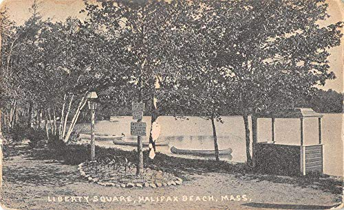 Halifax Beach Massachusetts Liberty Square Canoe Rental Postcard JC932005