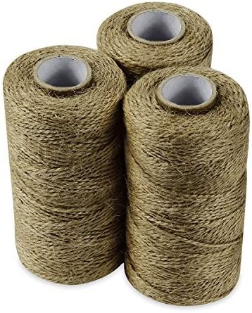 Micomon 300 Feet Natural Jute Twine Best Arts Crafts Gift Twine Christmas Twine Industrial Packing Materials Durable String for Gardening Applications Apple.Green