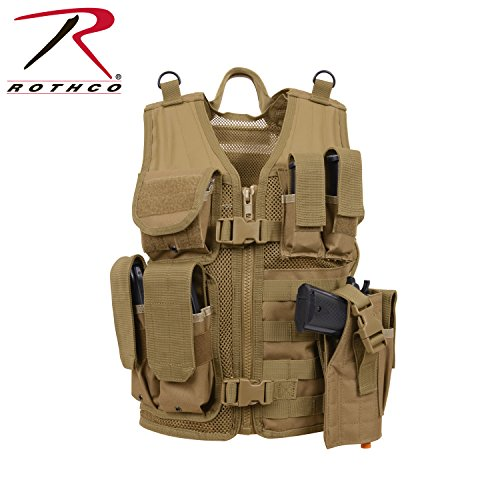 - Rothco Kid's Tactical Cross Draw Vest, Coyote Brown