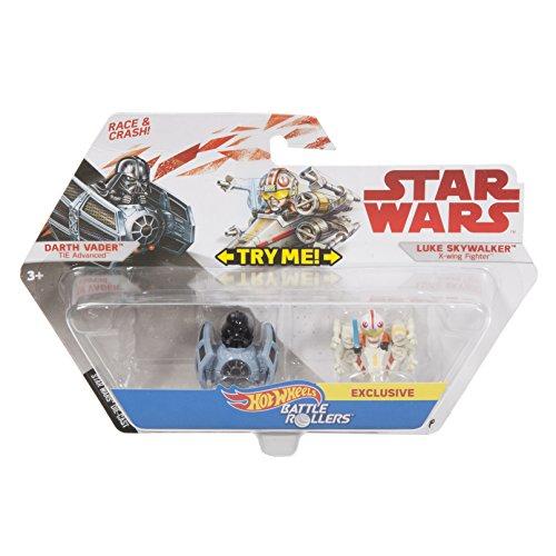 Hot Wheels Star Wars Darth Vader Tie Advanced Vs. Luke Skywalker X-wing Fighter 2-pack, Vehicle (Luke Skywalker X-wing Fighter)