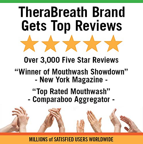 TheraBreath – Dry Mouth Oral Rinse – Dentist Formulated – Natural Salivary Enhancer – Tingling Mint Flavor – Natural Mouth Moisturizer – 16 Ounces – Two-Pack by TheraBreath (Image #4)