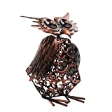 Solar Light Outdoor/Garden Decorative Bronze Metal Silhouette Animal- BroGarden Cute Owl Figurine Decor