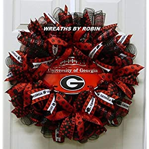 Georgia Sports Wreaths, Georgia College Wreaths (2158) 66