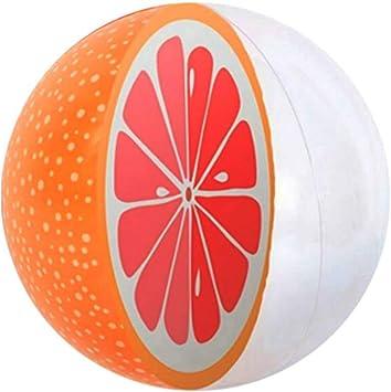 WYJHNL Pelota De Playa Inflable 3D con Fruta De Verano Naranja ...