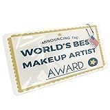 makeup artist ga - Metal License Plate Worlds Best Makeup Artist Certificate Award - Neonblond