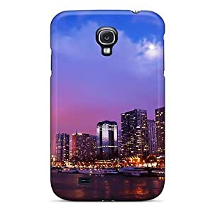 First-class Case Cover For Galaxy S4 Dual Protection Cover Paris Nights City Travel
