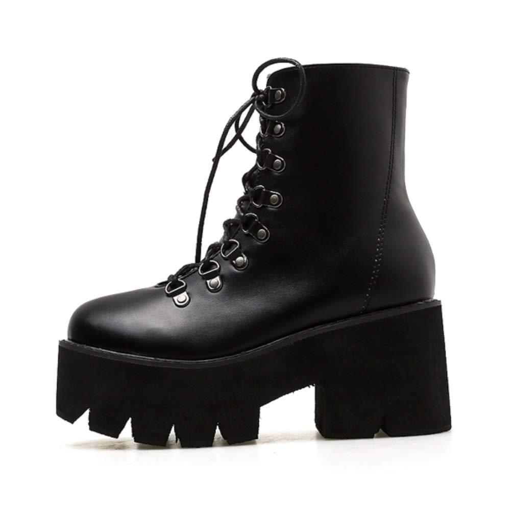 SHANGWU Frauen Damen Gothic Rock Punk Heels Plattform