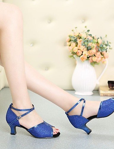 No nbsp;– Baile Azul Shangyi Personalizable nbsp;– nbsp;cuña nbsp;latin Zapatos nbsp;mujer nbsp;lentejuelas nbsp;– De nbsp;– wzzqOtgT