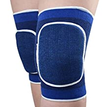 Kids Sports Elastic Knee Brace Protector Support Pads for Children Dancing Vollyball Crawling Knee Joint Guard Protection Blue