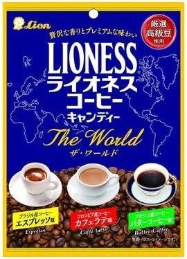 ライオン菓子 ライオネスコーヒーキャンディー ザ・ワールド 70g 18コ入り