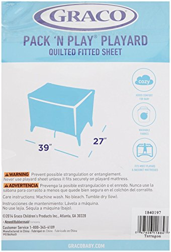 Amazon.com : Graco Pack 'n Play Quilted Playard Sheet, Cream ... : graco quilted pack n play sheet - Adamdwight.com