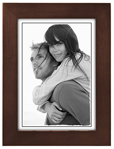 Malden 5x7 Picture Frame - Wide Real Wood Molding, Real Glass - Dark (Dark Wood Picture Frame)