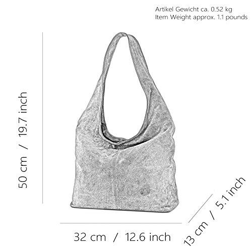 Sac Hellblau T150 Modamoda bandoulière à cuir de ital Wildleder Damentasche à en bandoulière Sac ZOwHqEO